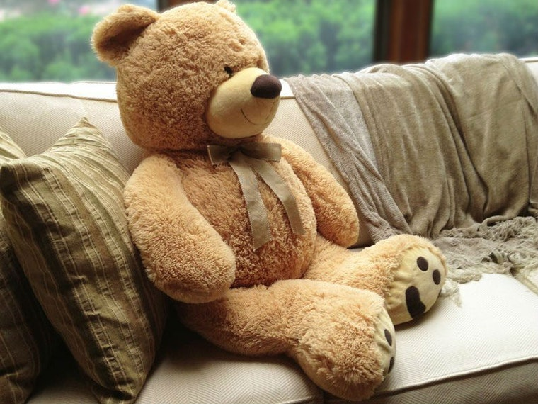 This absolutely massive teddy bear for life-size cuddles