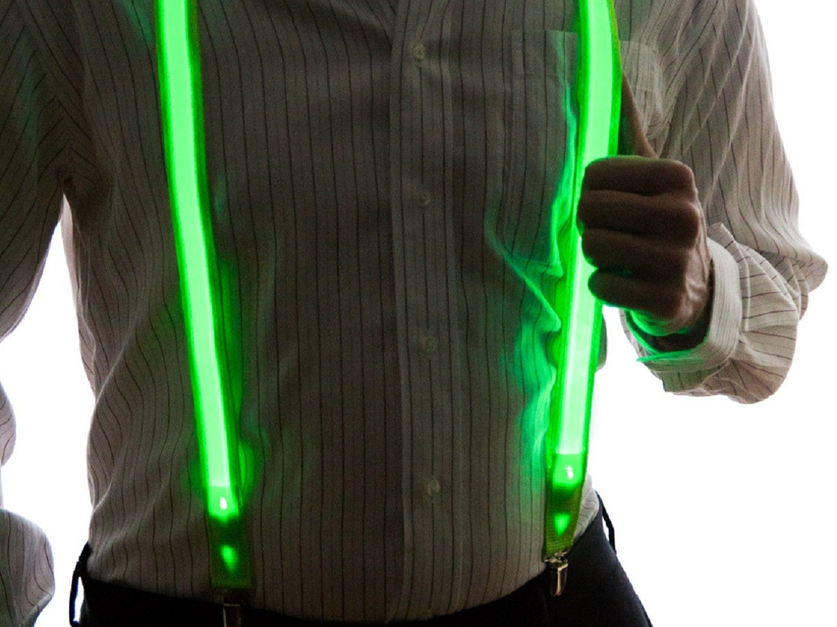 Light-up suspenders for your snazzy dresser
