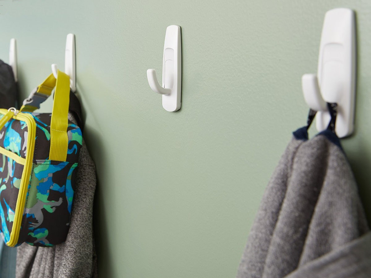 Use these little hooks for mounting ALL. THE. THINGS.