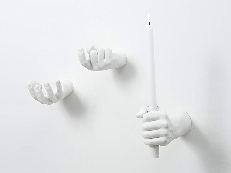 These hand-y wall decorations