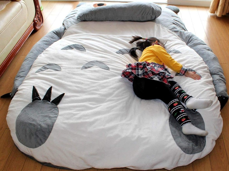 A Totoro bed you'll fight the kids for