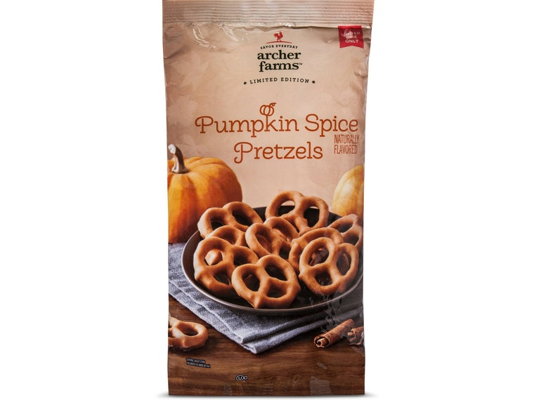 This salty and sweet pumpkin pretzel treat