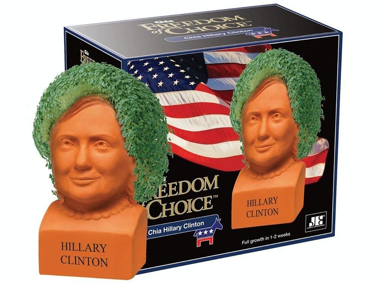 This Hillary Clinton Chia pet
