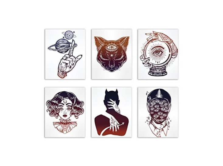 These wonderfully creepy tattoo art prints