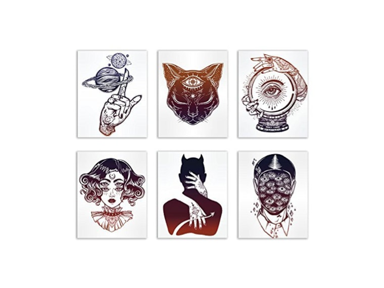 These wonderfully creepy tattoo art prints