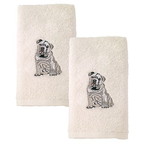 These bulldog guest towelsthat you'll never let your guests use