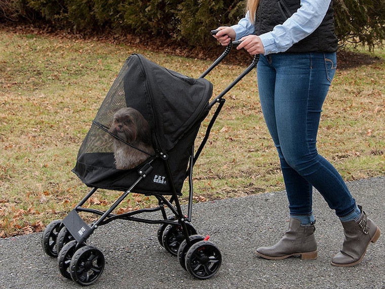 This luxurious pet stroller