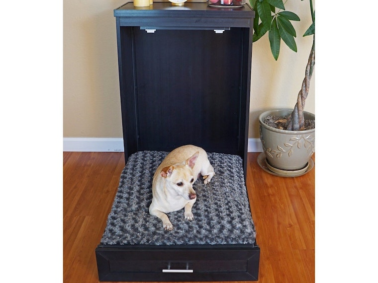 A luxurious, space-saving dog bed