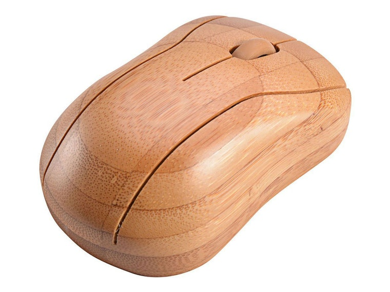 This stylish wood computer mouse