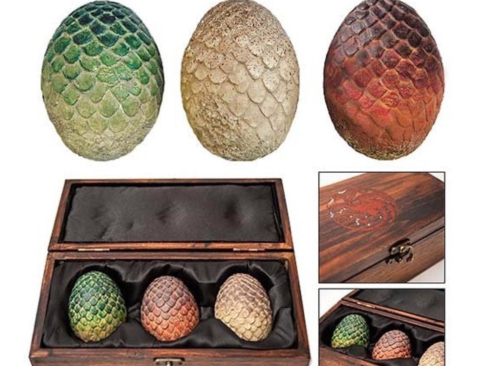 This trio of collectible dragon eggs