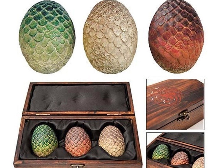 This trio of collectible dragon eggs