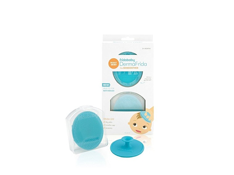 This soft, silicone scrub brush for baby