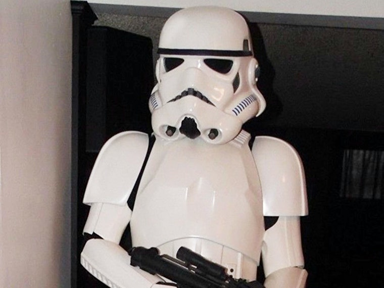 A life-sized stormtrooper