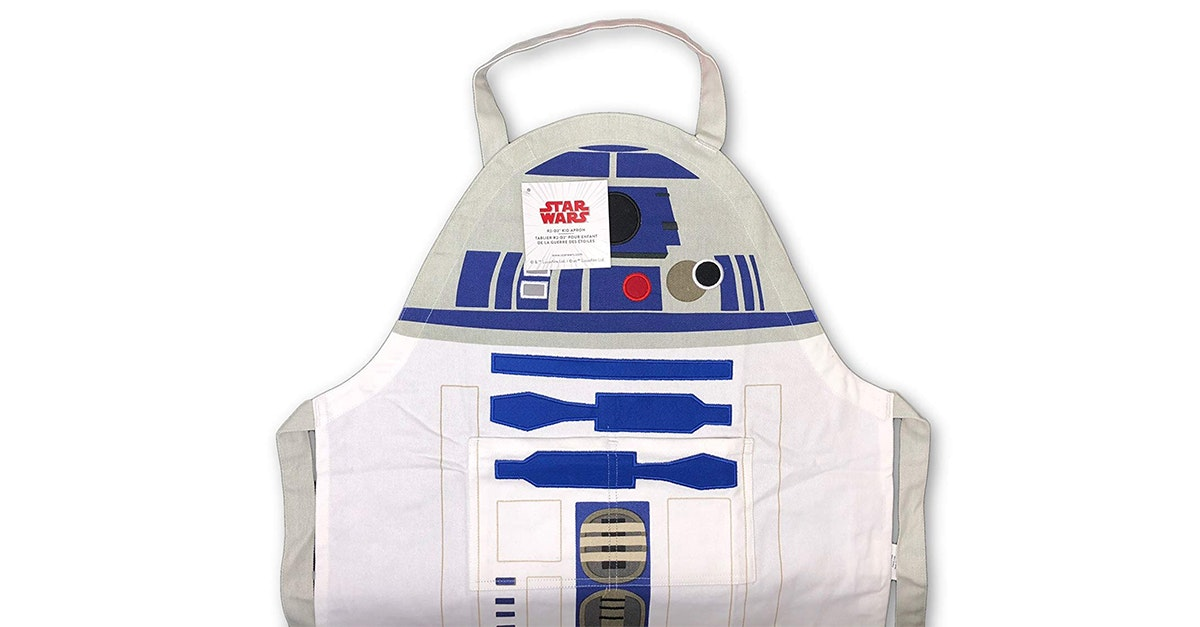 This R2-D2 apron for young chefs