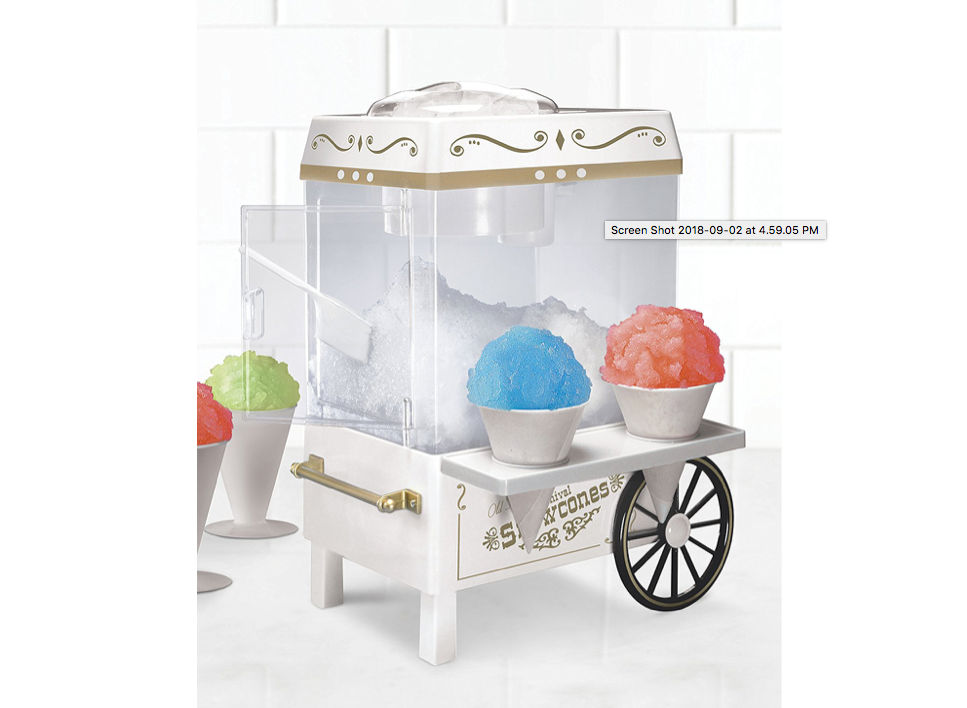 An appliance that makes cool treats🍧