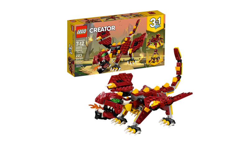 This Lego monster that they'll build themselves🦎
