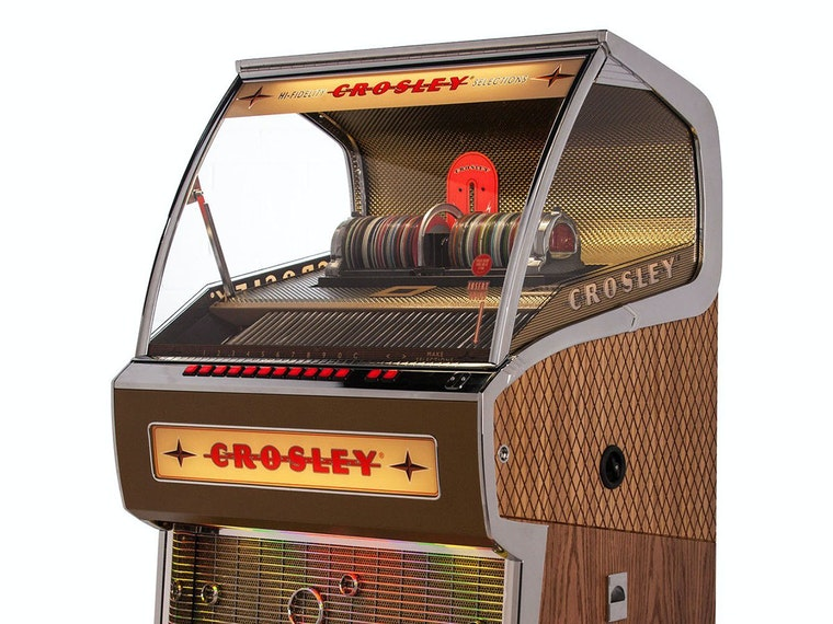 This giant retro chic Crosley jukebox