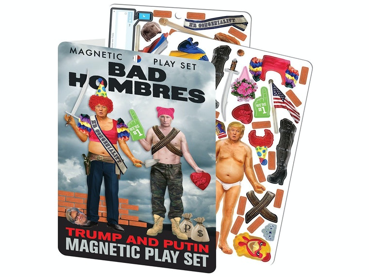 This magnet set that lets you dress up the president like one bad hombre