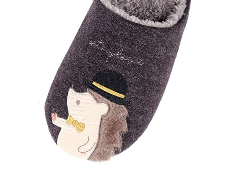 Hedgehog slippers for prickly souls