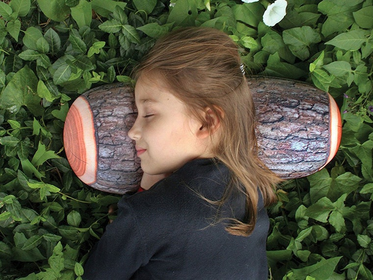 This wood-print pillow for when you want to sleep like a log