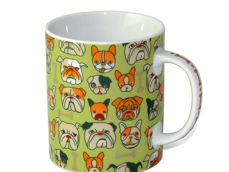 A mug for people who love every single type of bulldog