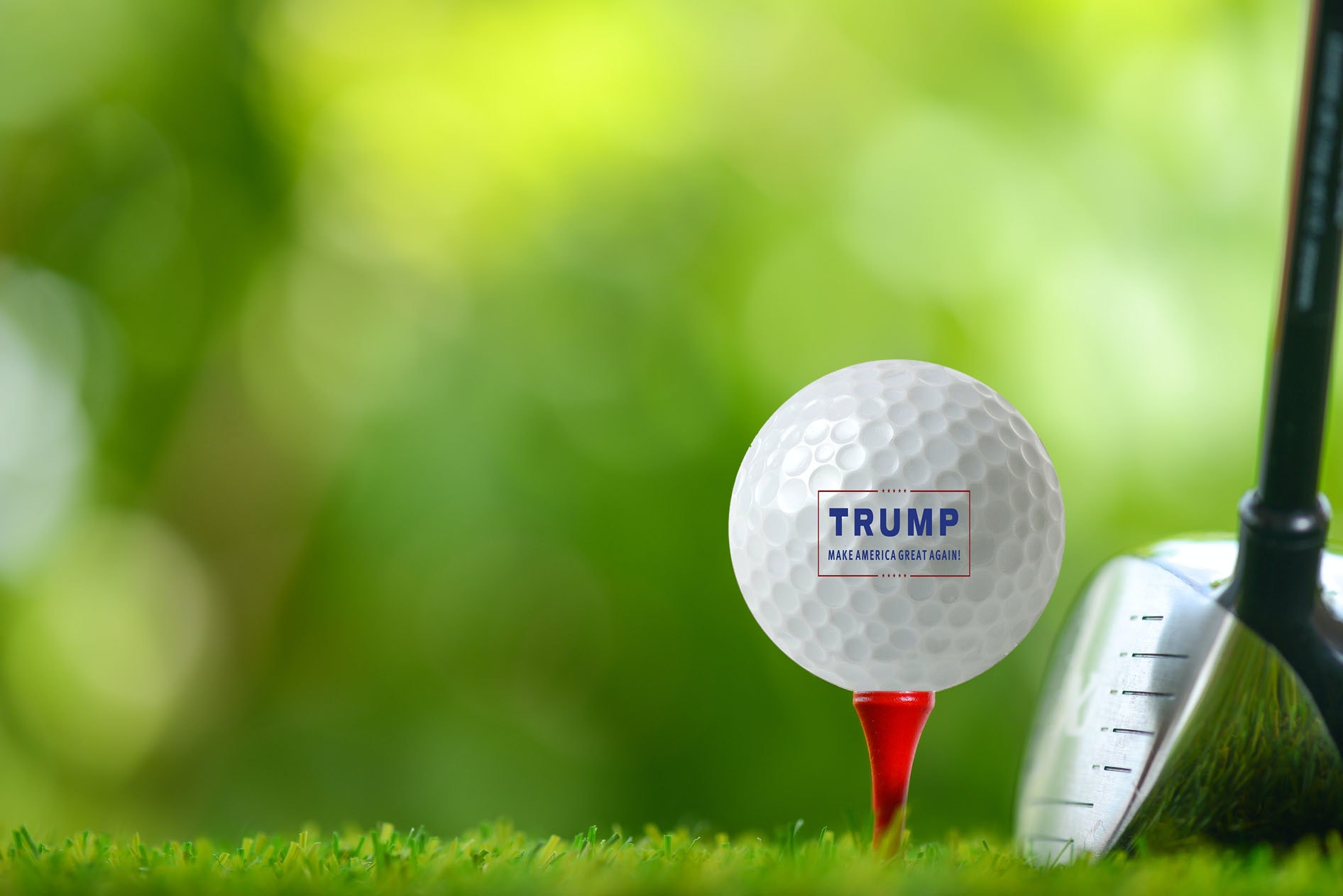 These collectible golf balls for when you join the president on the links