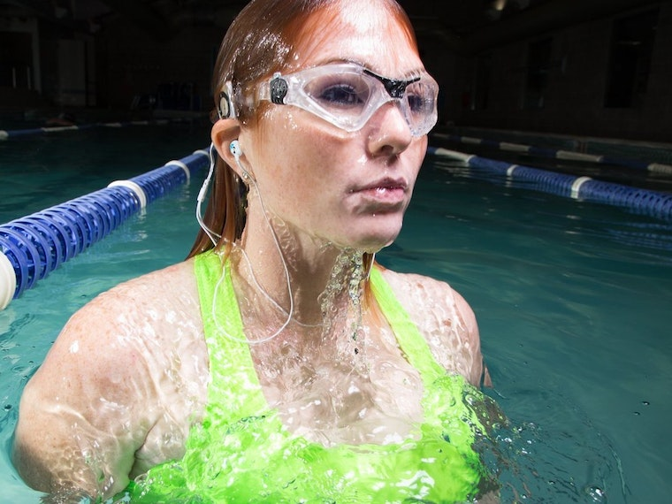 Waterproof headphones for swimmers