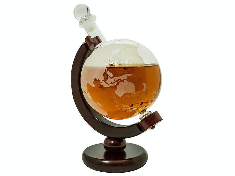 This classy whiskey decanter for the world traveler