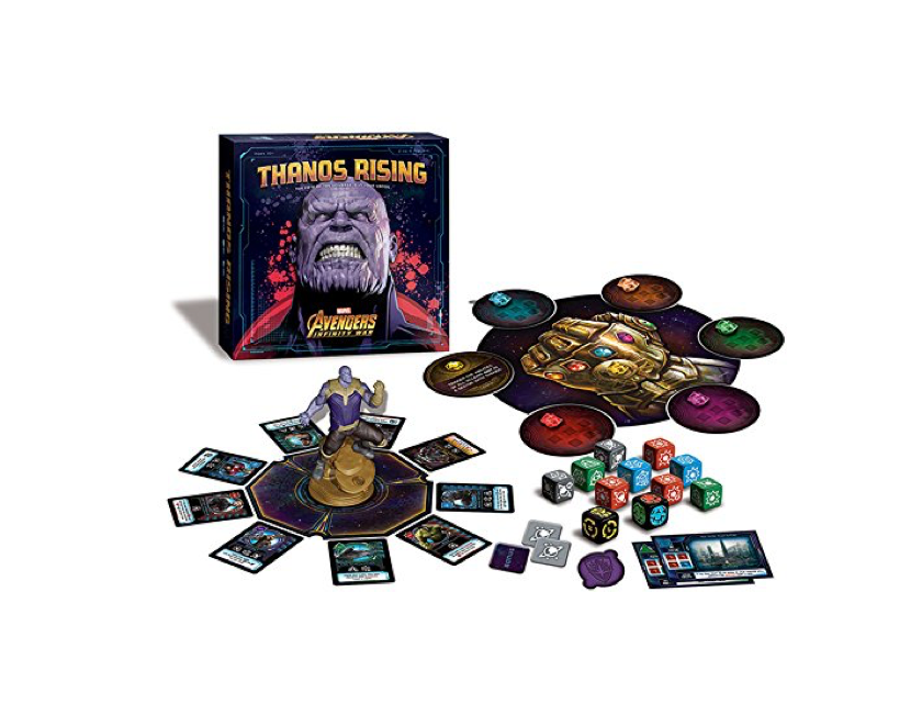 This cooperative Avengers dice and card game