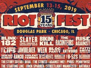 Blink-182, Slayer, Bikini Kill Headline Riot Fest 15th Anniversary Lineup