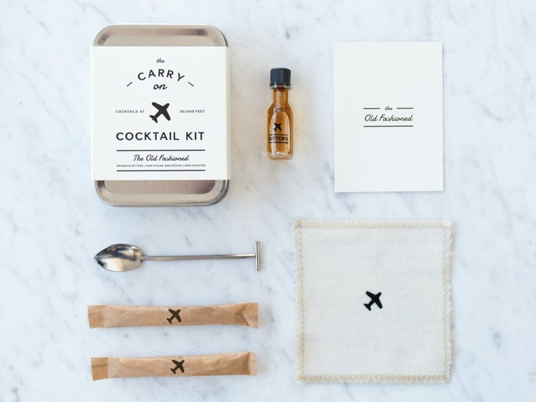 This cocktail kit for elevating your next in-flight drink