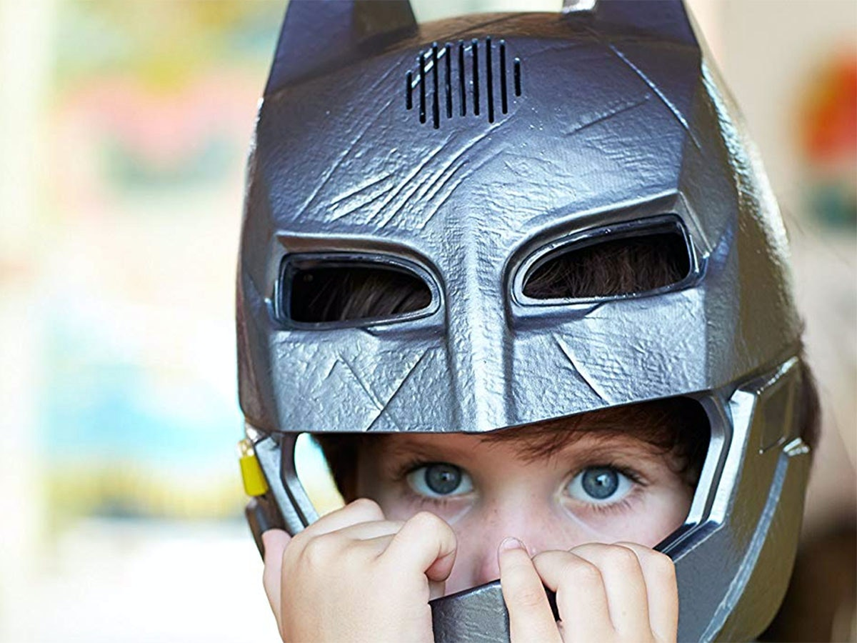 This rad voice-changing mask forpint-sized crime fighters