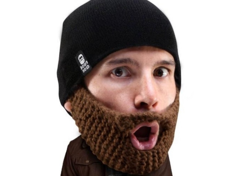 This warm and cozy fake beard for real hipsters