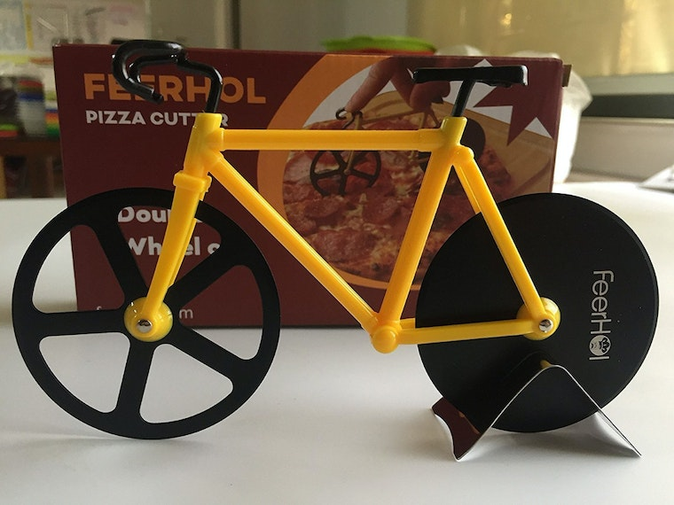 This bike-shaped kitchen gadget that carves up the competition (and pizza)