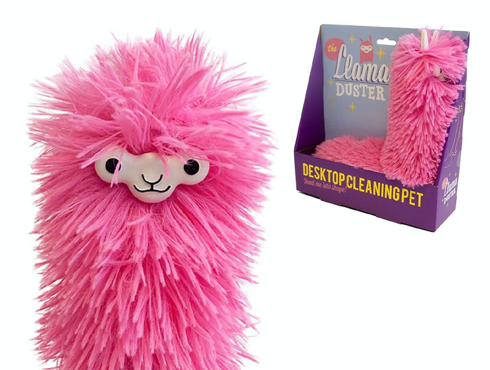 A fuzzy llama that keeps your desk nice and clean