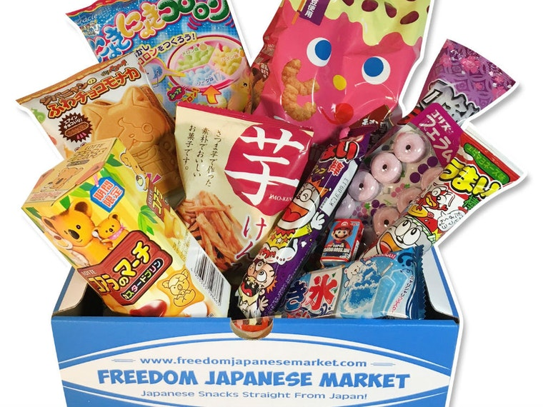 This colorful box stuffed with delicious treats from Japan