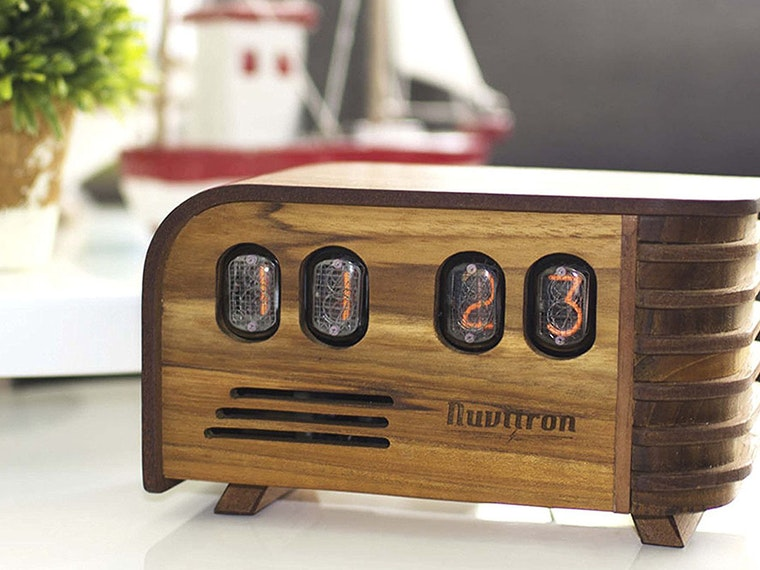 This clock that screams retro chic