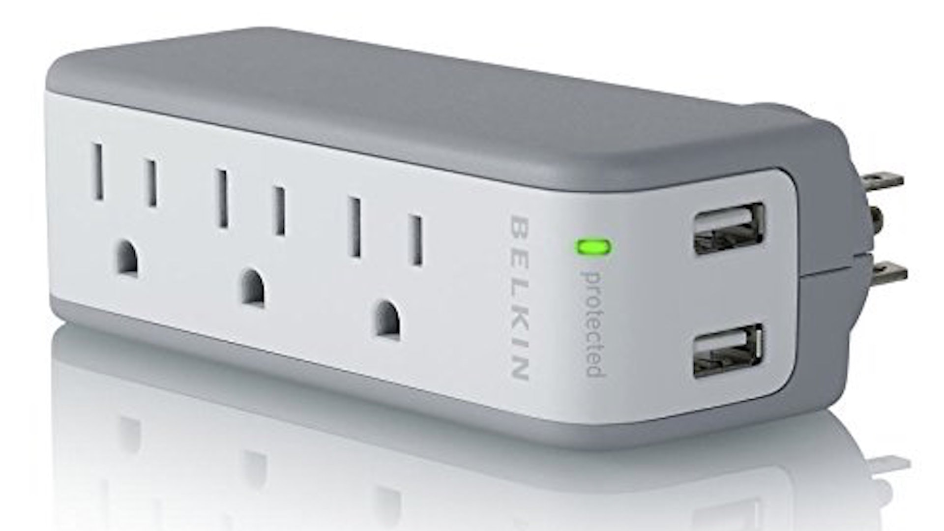 This crazy useful portable mini surge protector with USB