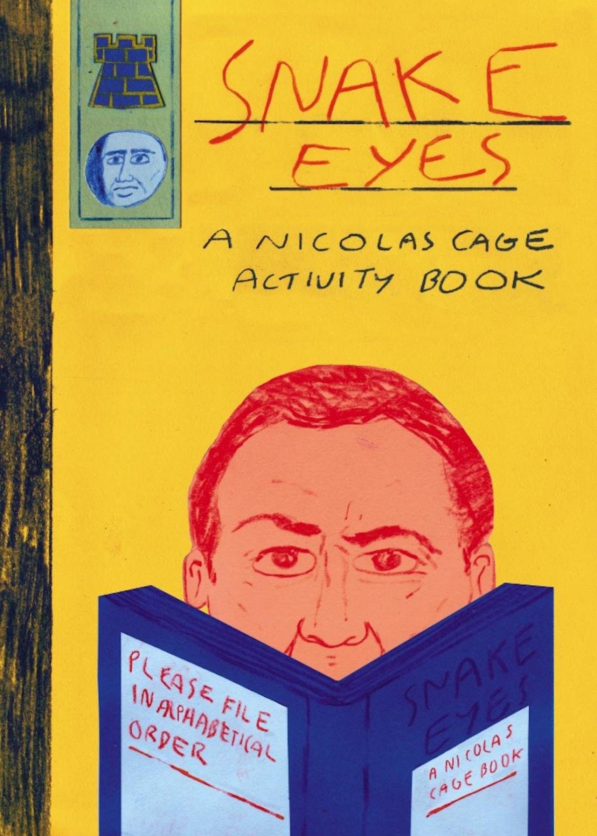 A Nicolas Cage activity book