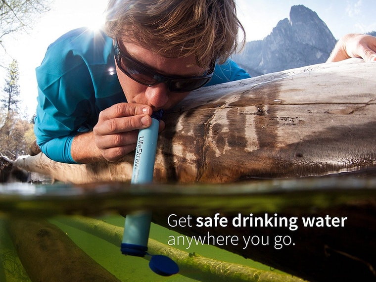 This life-saving straw for outdoors adventurers