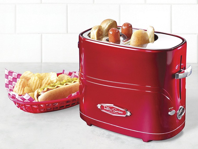 A toaster that only works for hot dogs and buns