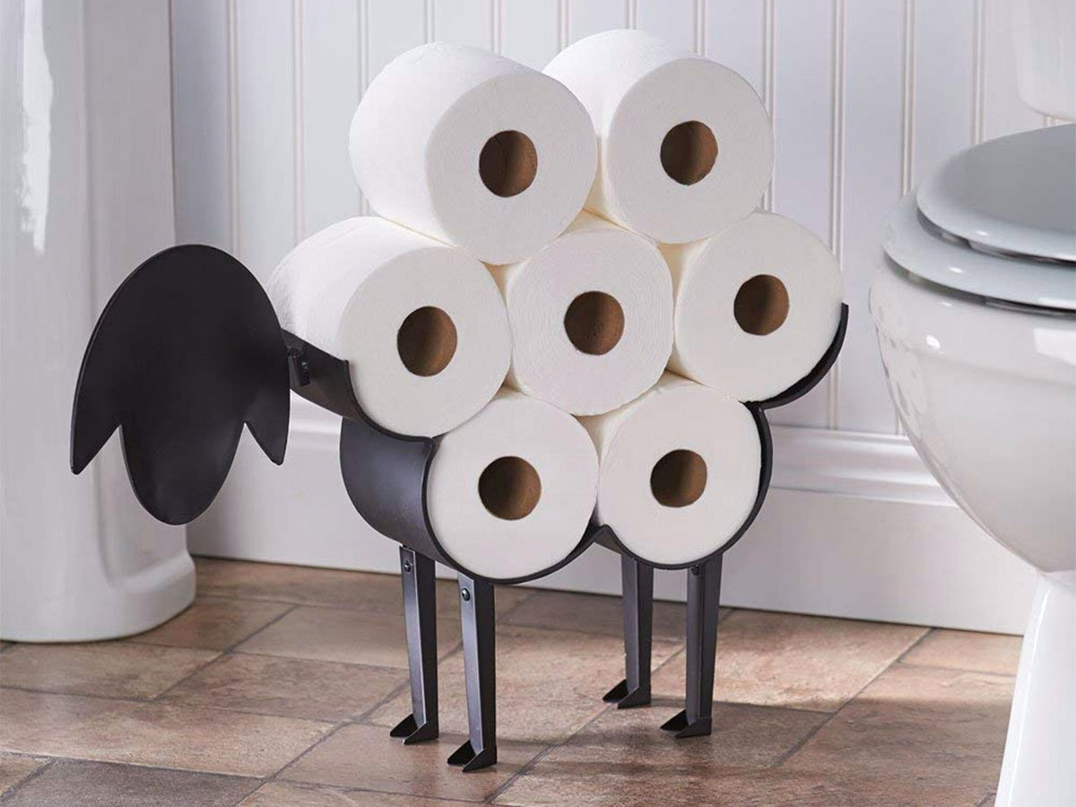 The most adorable way to store your extra rolls🐑