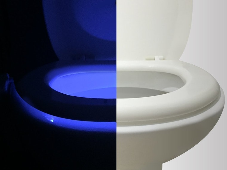 This super rad customizable toilet night light