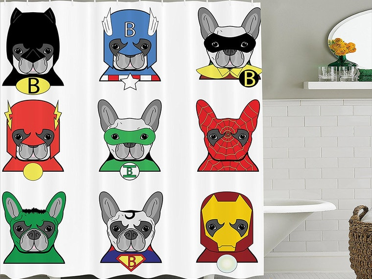 Thisshower curtain that heroically keeps your floor dry
