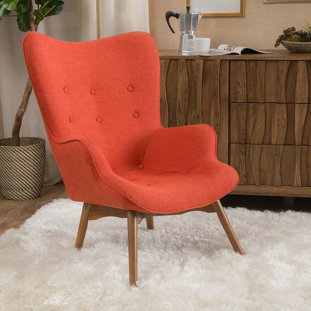 Bring in a pop of color with an affordable accent chair