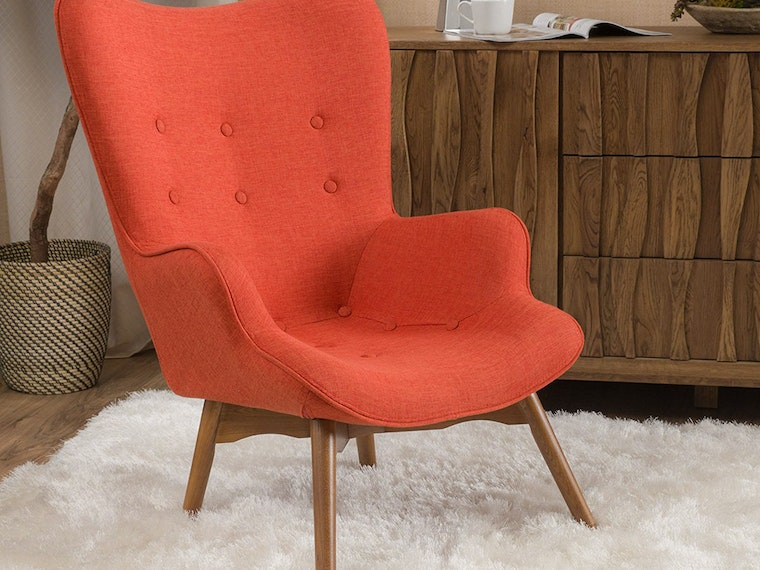 Bring in a pop of color with an affordableaccent chair