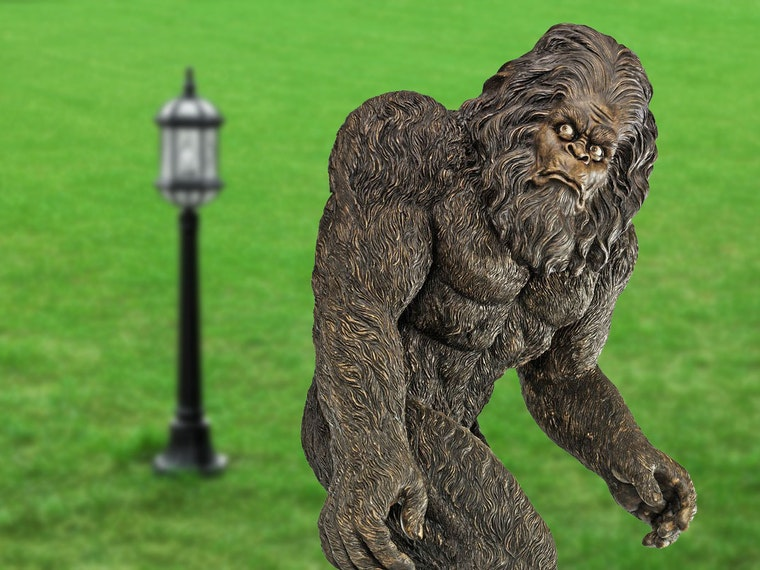 This life-size Bigfoot statue