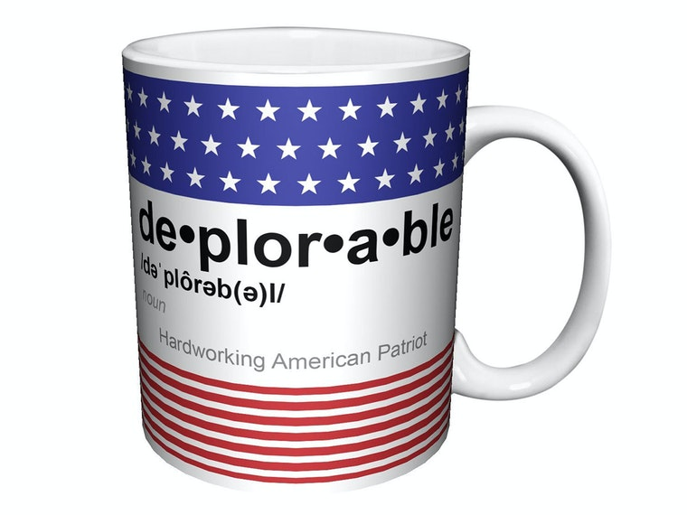 This mug that shows off your deplorable pride