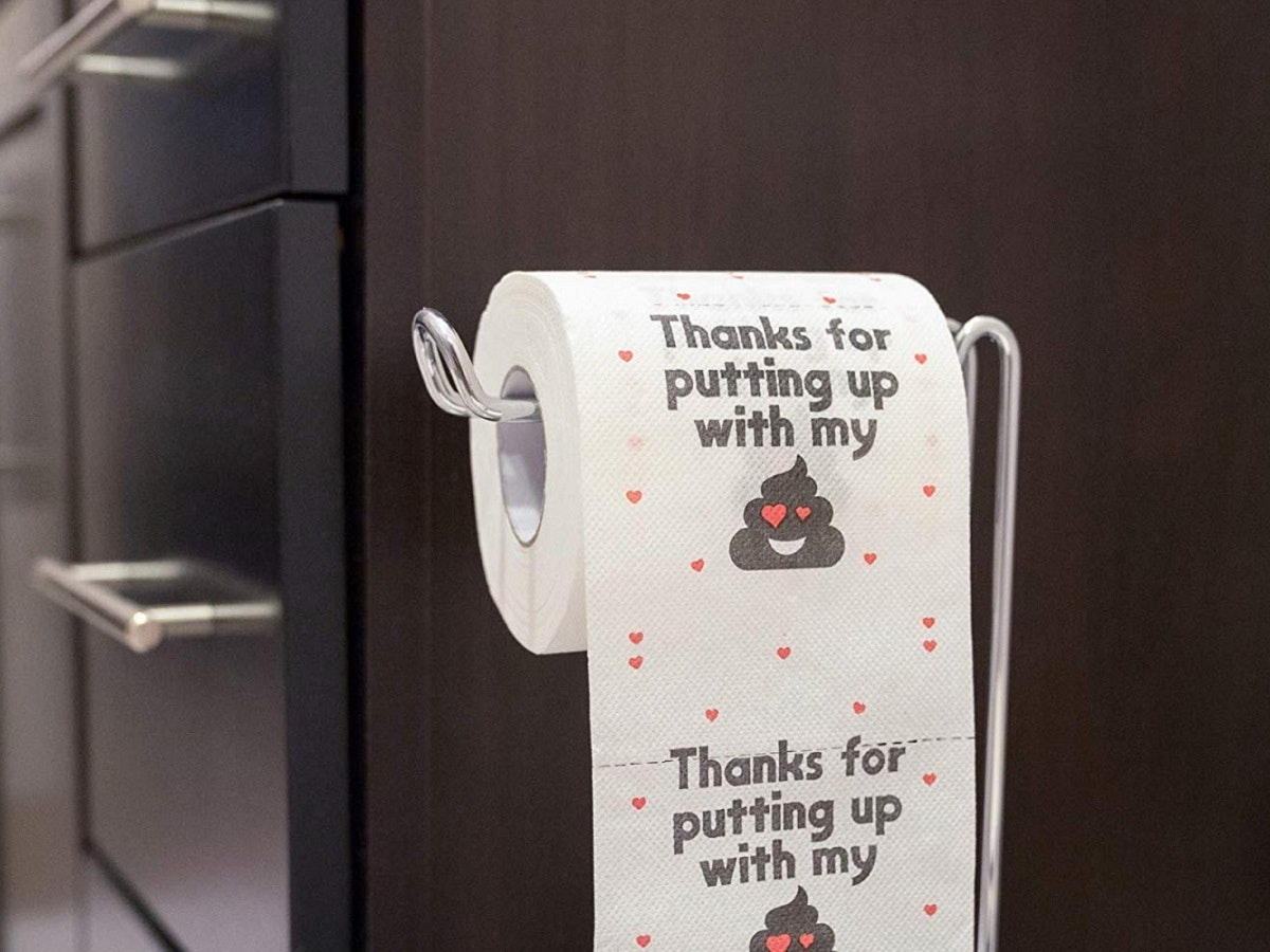 A roll of toilet paper with a sense of humor💩💩💩