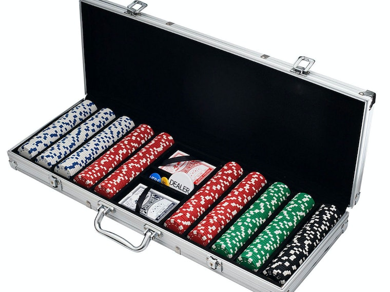 This quality poker chip set for dealing in all your friends